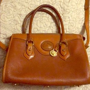 D&B Tan Leather Handbag